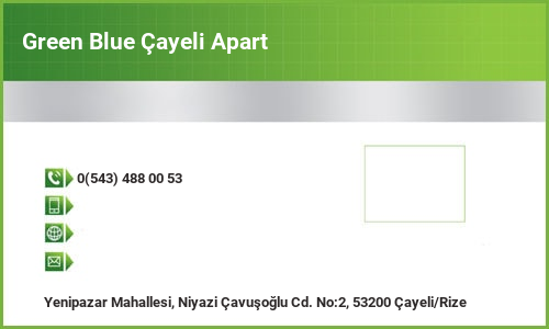 Green Blue Çayeli Apart